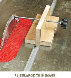 Tablesaw Alignment Block Woodworking Plan