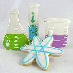 Graduation Themed Cookie Cutters - Cookie Cutter Science Lab Set of 4