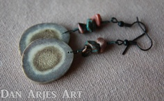 Antler Disc Dangle Earrings by TheAntlerArtisan on Etsy, $12.00