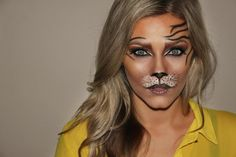 tiger costume makeup - 20 Flawssy Halloween Tiger Makeup to Try Cool Halloween Makeup, Pretty Halloween, Cool Halloween Costumes, Halloween Make Up, Infant Halloween, Halloween Ideas, Animal Makeup, Cat Makeup, Deer Makeup