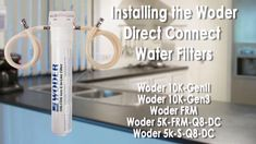 Woder WD-S-8K-DC Water Filtration System - WQA Certified – USA Made Ultra High Capacity Direct Connect Under Sink Water Filter - Removes Chlorine, Lead, Chromium 6, Heavy Metals, Odors/Contaminants.  This filter should be used in conjunction with municipally treated drinking water or water that has been properly disinfected prior use. ULTRA HIGH CAPACITY - LASTS FOR A MINIMUM OF 3 YEARS OR 8,480 GALLONS - Notes: For longest life, use with municipal treated cold water only, not well water. Do… Reverse Osmosis Water Filter, Reverse Osmosis System, Under Sink Water Filter, Water Valves, Healthy Water, Water Cycle, Water Filtration System, Drinking Water, Heavy Metal