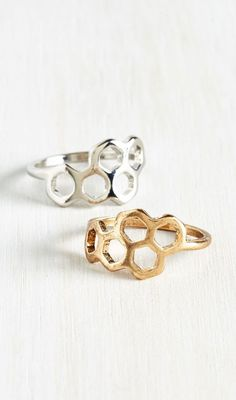 Honeycomb and Get It Ring Set