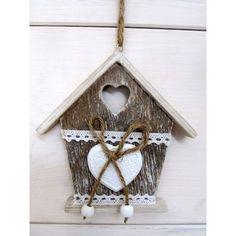 Dřevěný domeček na zavěšení Clock, Bird, Outdoor Decor, Wall, Home Decor, Watch, Decoration Home, Room Decor, Birds