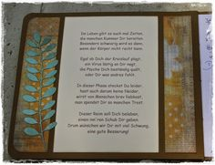 Schönes Gute Besserungs - Gedicht