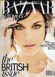 "I've never seen Alexa look more gorgeous meredya: "" I love, love this Twiggy-like cover of Alexa Chung on next month's Harper's Bazaar UK! Alexa Chung, Fashion Magazine Cover, Fashion Cover, Magazine Covers, Fashion Pics, Fall Fashion, Fashion Models, Twiggy Hair, Peach Lipstick"