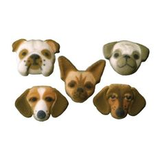 Lucks DecOns Decorations Molded SugarCupCake Topper Small Dog Assortment 15 Inch 70 Count -- You can get more details by clicking on the image.