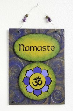 Namaste Wall hanging sign for Your Yoga Space by TheArtofMind, $40.00