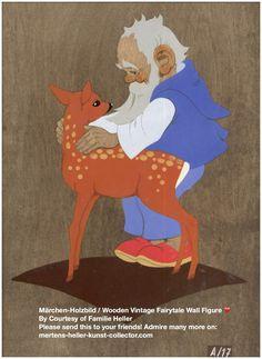 No 3001. Hellerkunst: Zwerg mit Reh / Blue Dwarf Hugging Doe – MHKC – Christiane Dietz