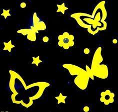 Pillangók, éjjel világító polifoam falmatrica