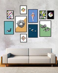 Protea print Modern wall art Floral art Protea art Instant