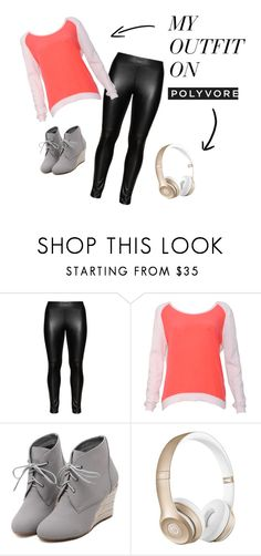 """""""Everyday laughs"""" by allison8-i on Polyvore featuring Studio, Sandro, WithChic, Beats by Dr. Dre, women's clothing, women's fashion, women, female, woman and misses"""