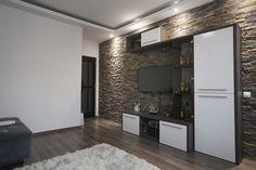 Living Room Designs, Living Room Decor, Open Plan Kitchen Living Room, Luxury Living, Wall Decor, Interior Design, Architectural Engineering, Stones, Decorating Ideas