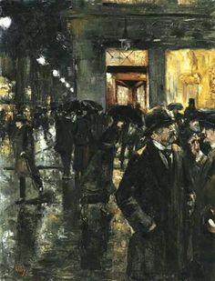 Lesser Ury, nachtliche strassenzene,1915
