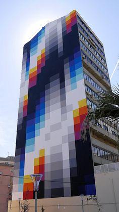 "josepaivawolff: ""Felipe Pantone | Praça Bernardino Machado | Lisboa """
