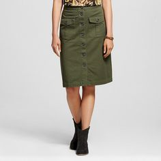 Women's Button Front Midi Skirt - Who What Wear : Target