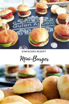 Party snack: quick tasty mini burger & raffle by Erwin Müller- (Display) Delicious and simple in small format. The mini burgers are great as for example too to the or similar occasions. Nicely decorated on an egg Snacks Für Party, Appetizers For Party, Homemade Burgers, Food Displays, Quick Snacks, Burger Recipes, Yummy Drinks, Finger Foods, Kids Meals