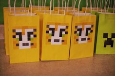 Minecraft Stampy Stampcat goodie bags, birthday party