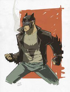 ROCKABILLY BATMAN by Denis Medri