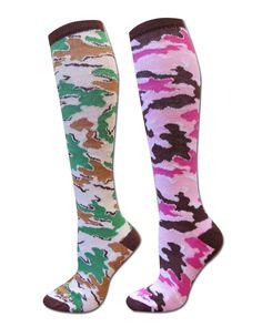 Camo Kneehigh Socks #SKOutdoors  skoutdoors.com