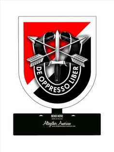 From the Altogether American licensed collection, this 6th Special Forces Group Table Top Sign measures 6 inches by 7 inches and weighs in at 1 lb(s). This custom metal shape is hand made in the USA u