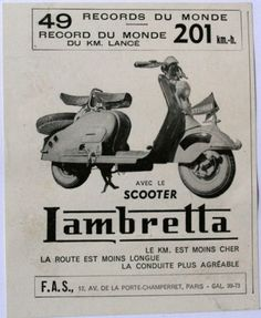 Publicités anciennes - Scooter Lambretta (1946)