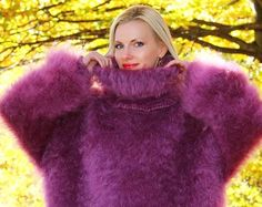 Made to order thick fuzzy hand knitted multicolor by supertanya
