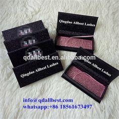 Luxury Beautiful Glitter Custom Eyelash Packaging Box with Private Label Logo