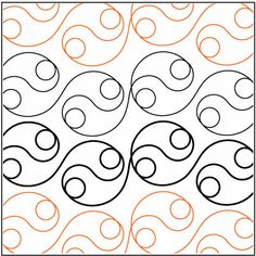 Yin Yang quilting pantograph pattern by Lorien Quilting