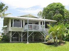 Oneki Decked Out Home Package Kit Hilo Hawaii   Hawaii House Ideas    new expanded deck ocean side view   Hilo house vacation rental photo