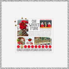 Oh What Fun | December '19 Featured Products | Sahlin Studio | Digital Scrapbooking Designs