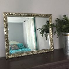 extra large wall hanging mirror silver ornate frame for sale custom color options shabby cottage chic