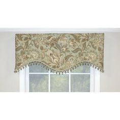 Darby Home Co Gilead Window Valance Color: Mist Valance Window Treatments, Window Treatments Living Room, Window Coverings, Tier Curtains, Cafe Curtains, Window Fitting, Kitchen Wall Colors, Kitchen Valances, Custom Drapes