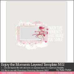 Enjoy the Moments Layered Template No. 02 - Digital Scrapbooking Templates