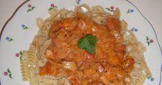 Gott, snabbt och enkelt Mozzarella, Bacon, Shrimp, Spaghetti, Curry, Pasta, Meat, Ethnic Recipes, Food