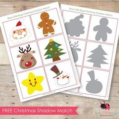 FREE CHRISTMAS SHADOW MATCH
