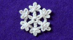 Crochet snowflake - Little snowflake Crochet Quilt Pattern, Crochet Snowflake Pattern, Crochet Motif Patterns, Crochet Flower Tutorial, Crochet Snowflakes, Granny Square Crochet Pattern, Christmas Crochet Patterns, Crochet Christmas Ornaments, Diy Crochet And Knitting
