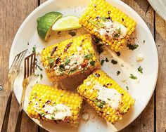 Mexican-Style Street Corn Recipe - Fresh and flavorful toppings lend a delicious addition to sweet corn. #Schwans #EasyRecipes #Inspiration