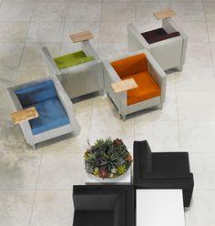 Ciji Office Lounge Seating Gunlocke Individual or communal space