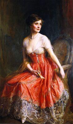 Mrs. Archie Graham, née Dorothy Shuttleworth (1917) → Phillip Alexius de László - 1869/1937 - Pintor Húngaro.