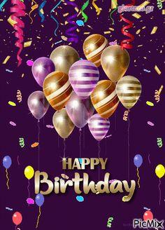 Happy Birthday Flowers Gif, Happy Birthday Gif Images, Birthday Humorous, Happy Birthday Greetings Friends, Happy Birthday Wishes Photos, Birthday Wishes Cake, Happy Birthday Celebration, Happy Birthday Wishes Cards, Happy Birthday Video