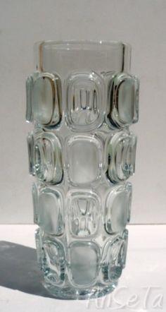 Libochovice Glashutte Lens Vase Vizner