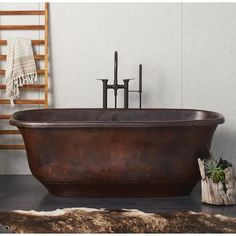 Native Trails Santorini Soaking Bathtub for Freestanding Installations Antique Tub Soaking Freestanding Free Standing, Copper Bathtubs, Copper Tub, Home Improvement, Copper Kitchen, Bathtub Remodel, Bathroom, Bathroom Decor, Bathtub