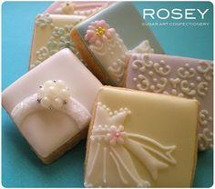 Wedding Petite Cookies by rosey sugar, via Flickr
