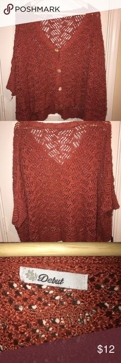 Orange cardigan One of my favorites to wear with black leggings and boots! Sweaters Cardigans