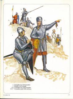 1. Crusader 1st - 3rd Crusades 2. Knight 3rd Crusade 3, 4. Crusaders 1st - 3rd Crusades 5,6,7. Crusaders mid 12th century