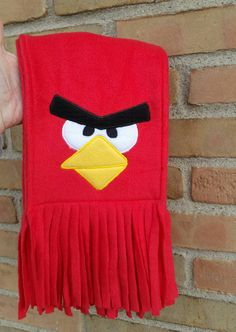 """Check out this item in my Etsy shop <a href=""""https://www.etsy.com/listing/259907415/red-mad-bird-fleece-scarf"""" rel=""""nofollow"""" target=""""_blank"""">www.etsy.com/...</a>                                                                                                                                                                                 More"""
