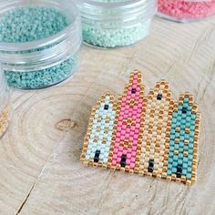 Immeubles scandinaves en perles / Perles hama diy