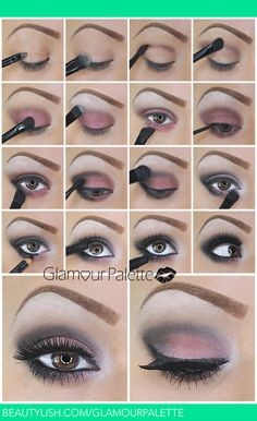 How To: Pink Red Smoky Eyes Tutorial