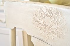 DIY: How To Apply A Raised, Stenciled Design - using vinyl spackle from the home improvement store, apply it over a stencil. When dry, paint & antique as usual. This adds interest - could be used in place of wood appliques at a fraction of the cost! Furniture Projects, Furniture Makeover, Diy Furniture, Wholesale Furniture, Furniture Refinishing, Furniture Stores, Handmade Furniture, Decoupage, Wood Appliques