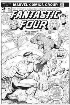 ARTHUR ADAMS Fantastic Four 166 cover inks by SKY-BOY
